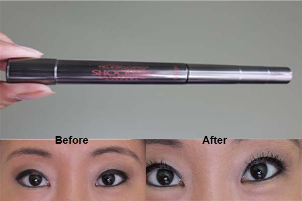 Loreal Telescopic Mascara - before after
